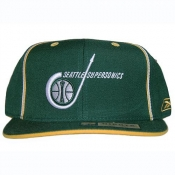 Reebok Seattle Super Sonics Hardwood Classics Throwback HAT Fit